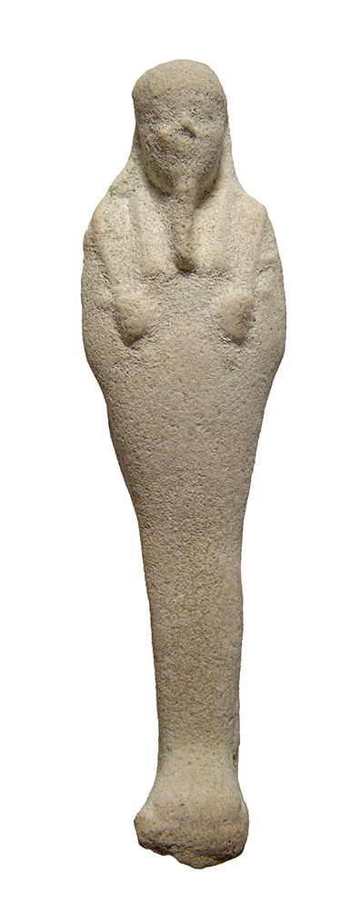 Egyptian white faience ushabti, Late Period