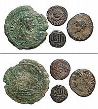 A lot of 4 ancient coins