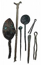 A group of Roman spoons and implements