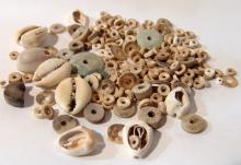 A group of Egyptian Pre-dynastic shell beads