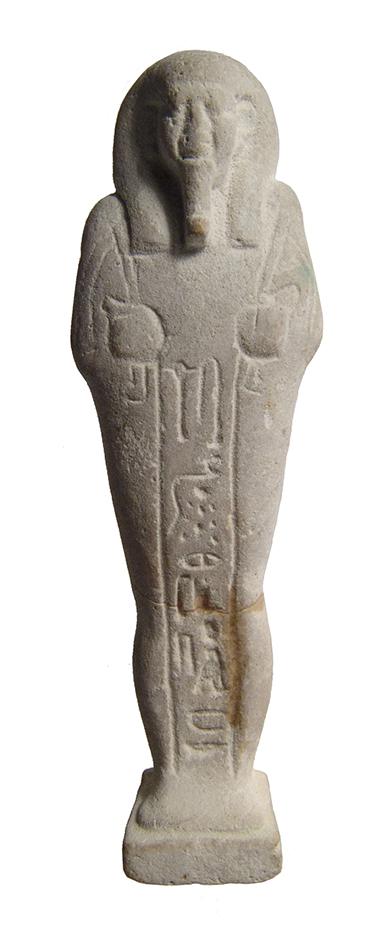 Detailed Egyptian faience ushabti for Psamtek, Late Period