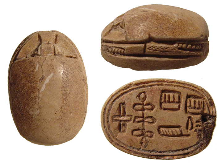 Egyptian steatite scarab, 2nd Intermediate Period