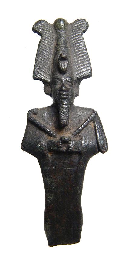 Beautifully detailed Egyptian bronze partial Osiris figurine