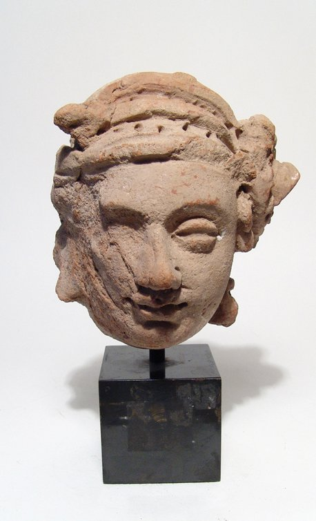 A large Central Asian terracotta male head