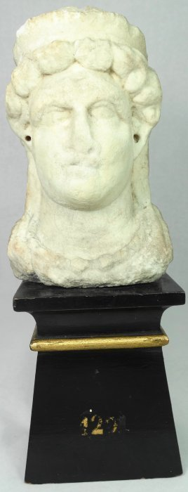 Roman marble herm bust of a Celtic queen or goddess