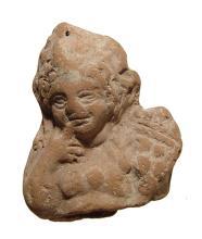 Romano-Egyptian terracotta bust of Harpokrates