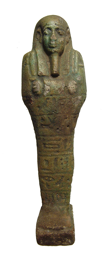 A nice Egyptian green glazed faience ushabti
