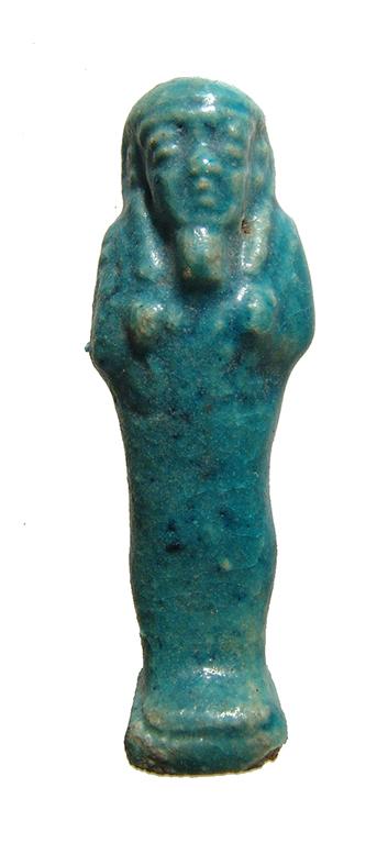 Nice little turquoise glazed faience ushabti