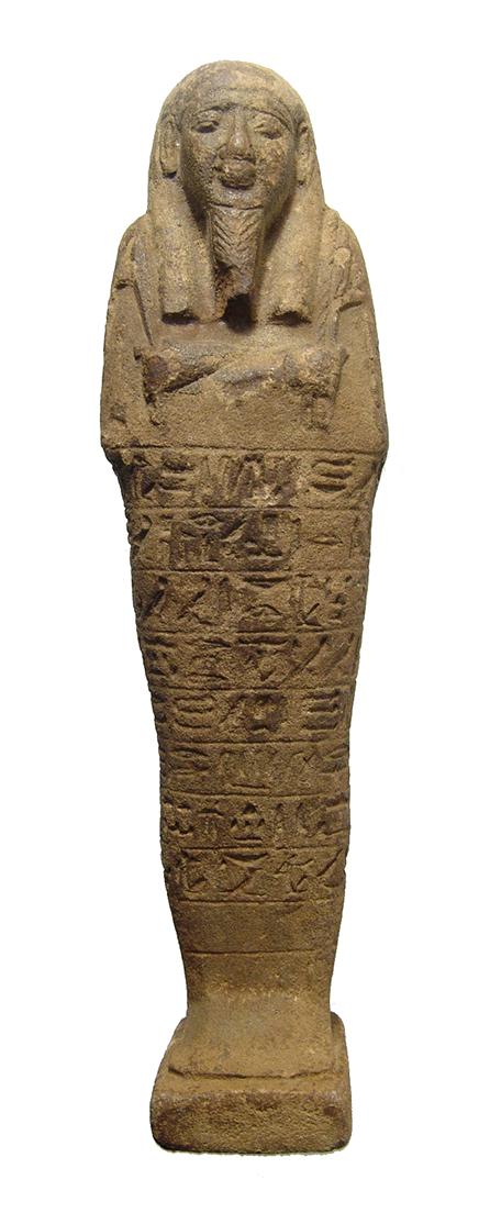 Fantastic large Egyptian ushabti with inscription