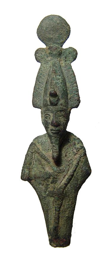Detailed Egyptian bronze upper body of Osiris