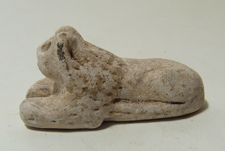Wonderful Sumerian limestone figurine of lion