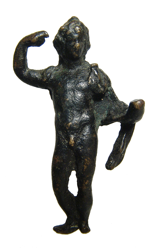A Roman bronze figurine of a deity