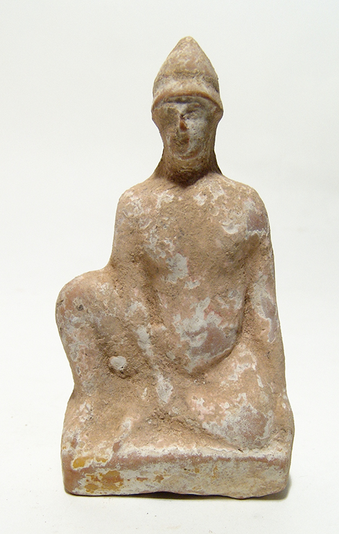 A Greek terracotta figure of a youthful male