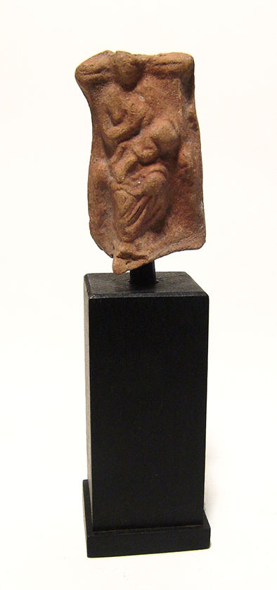 Roman terracotta fragment depicting Isis and Horus