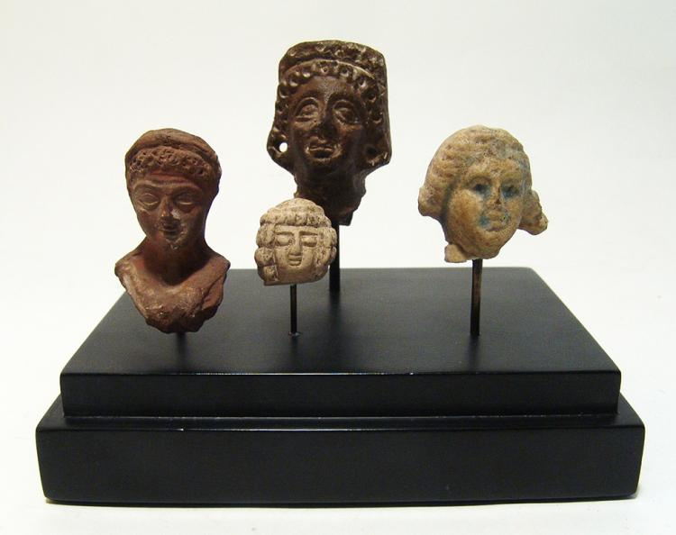 Lovely set of 4 nicely detailed ancient heads, Roman