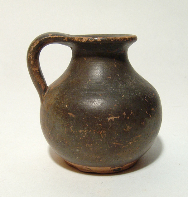 An attractive little Greek black-ware oinochoe