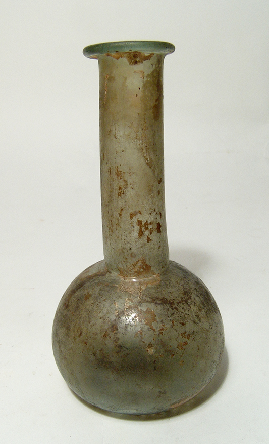 A nice Roman pale green glass bottle