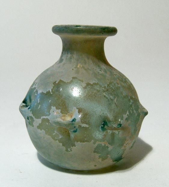 Roman pale green glass bottle, Eastern Mediterranean
