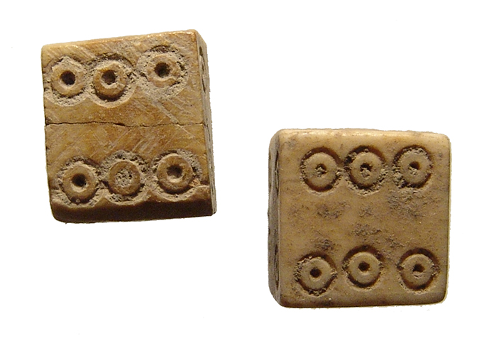 A large pair of Roman bone dice