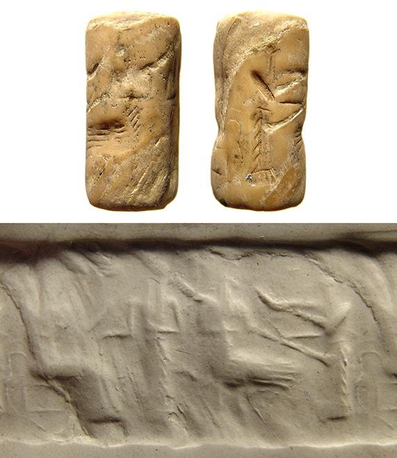 An Akkadian shell cylinder seal