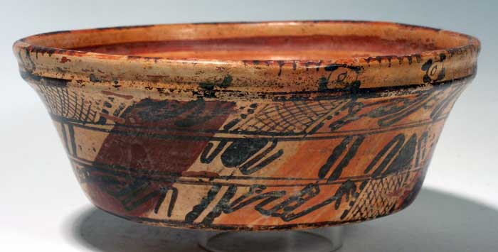 Maya polychrome bowl from the Sula Valley