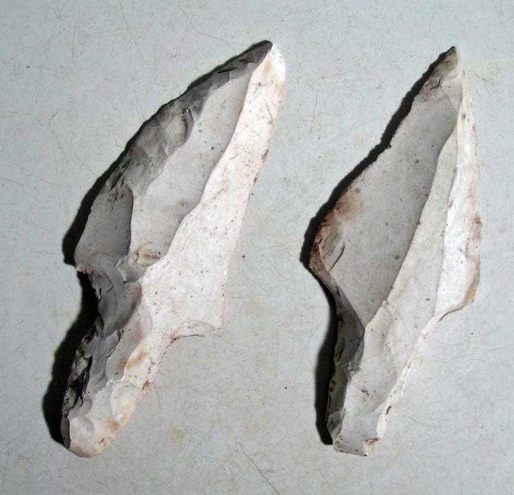 A pair of Maya blades from Belize
