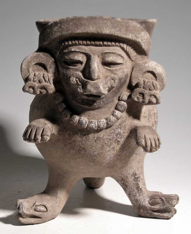 An awesome Zapotec figural vessel from Oaxaca