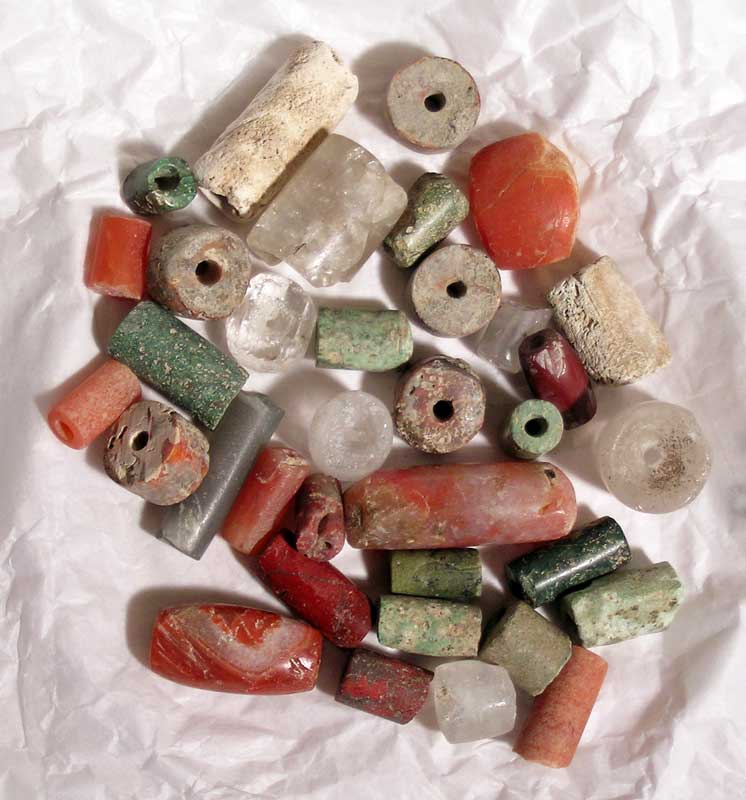 Group of assorted Tairona stone beads from Colombia