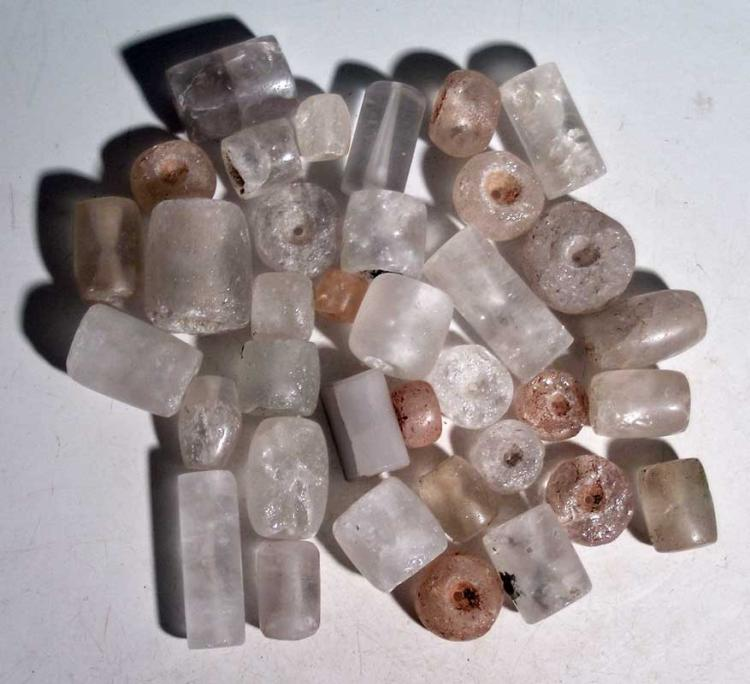 Large bag of Sinu crystal beads from Colombia