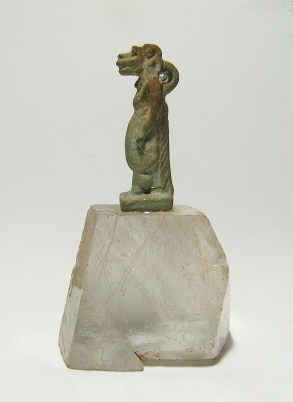 An Egyptian faience amulet of Taweret