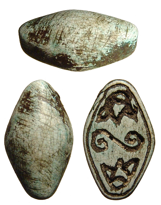 Egyptian steatite scaraboid, 2nd Intermediate Period
