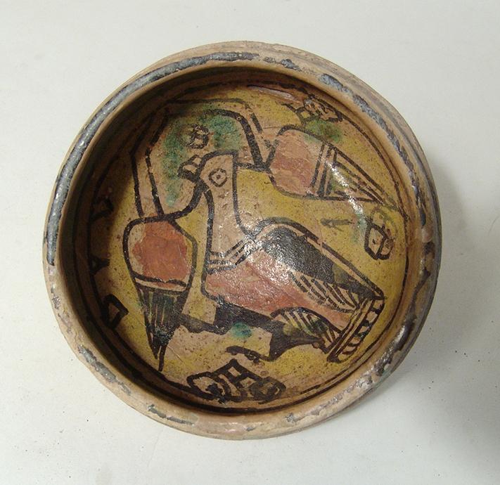 Nice Nishapur ceramic cup, 10th Century AD