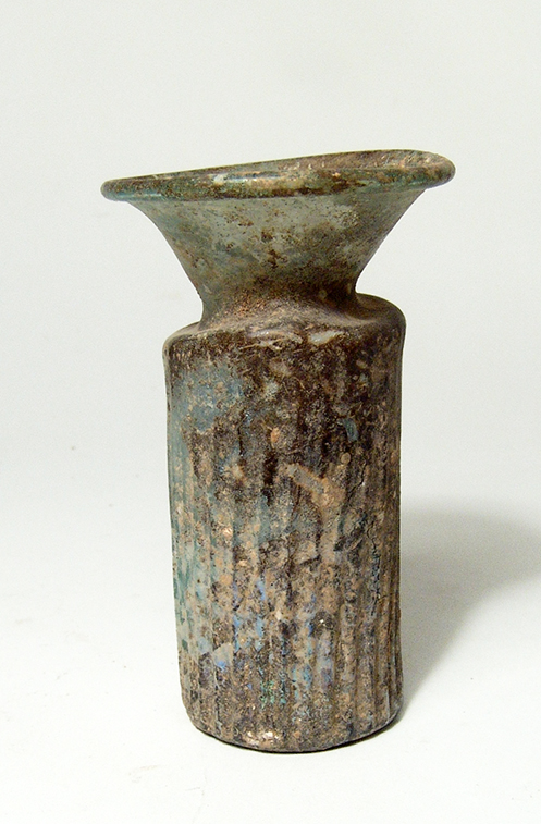 Roman colorless glass flask, Eastern Mediterranean