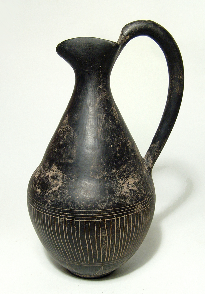 A choice Etruscan bucchero oinochoe