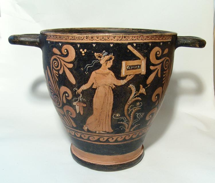 Large and impressive Greek red-figure skyphos, Apulia