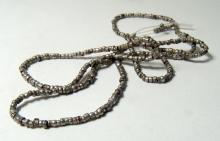 A nice strand of Chimu silver beads