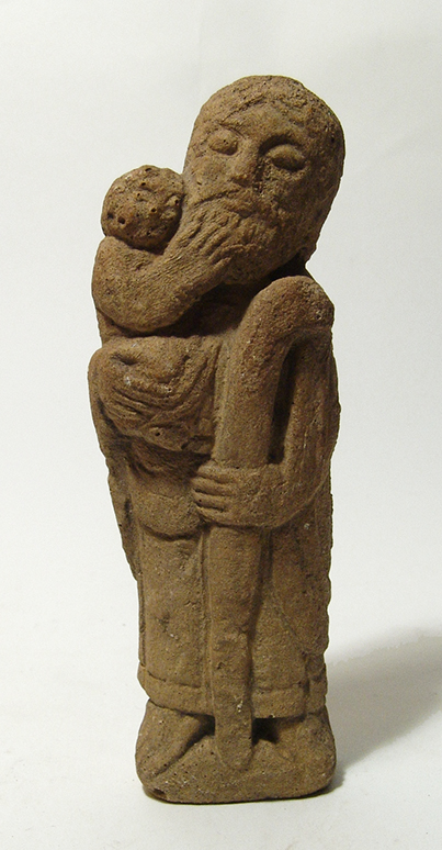 A nice Medieval limestone figure of a St. Christopher