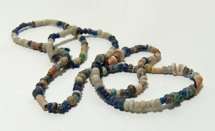 A nice strand of Roman glass beads