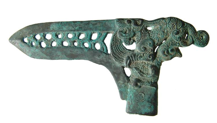 Chinese bronze dagger-axe, Eastern Zhou Dynasty