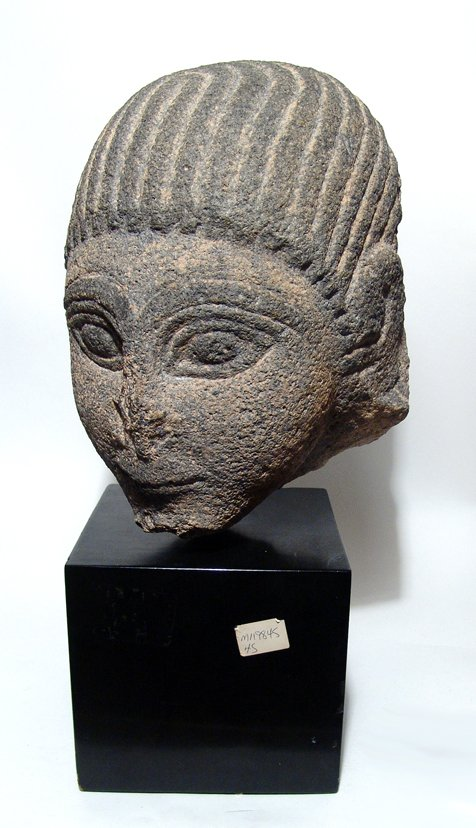 An Eastern Mediterranean stone head of a youth