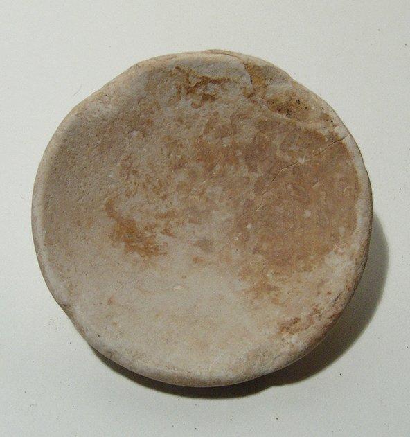 A Sumerian crème limestone phiale