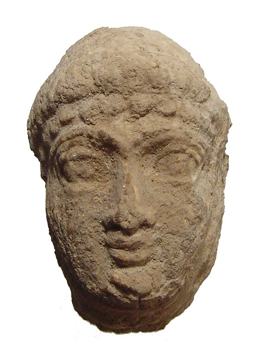 Achaemenid limestone head of a man
