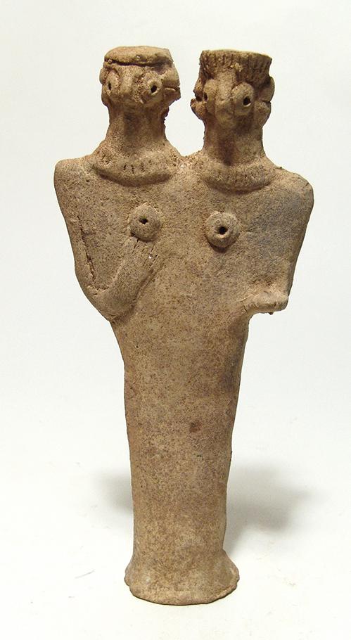 A nice double-headed Syro-Hittite fertility figure