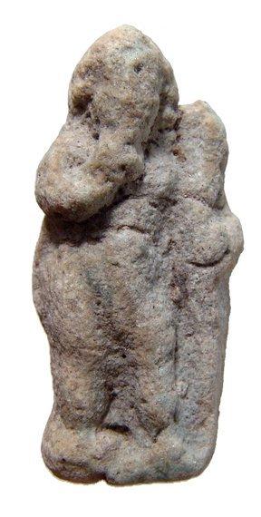 Egyptian faience amulet of Harpokrates, Roman Period