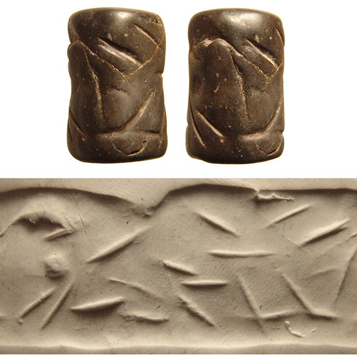 A proto-Elamite serpentine cylinder seal