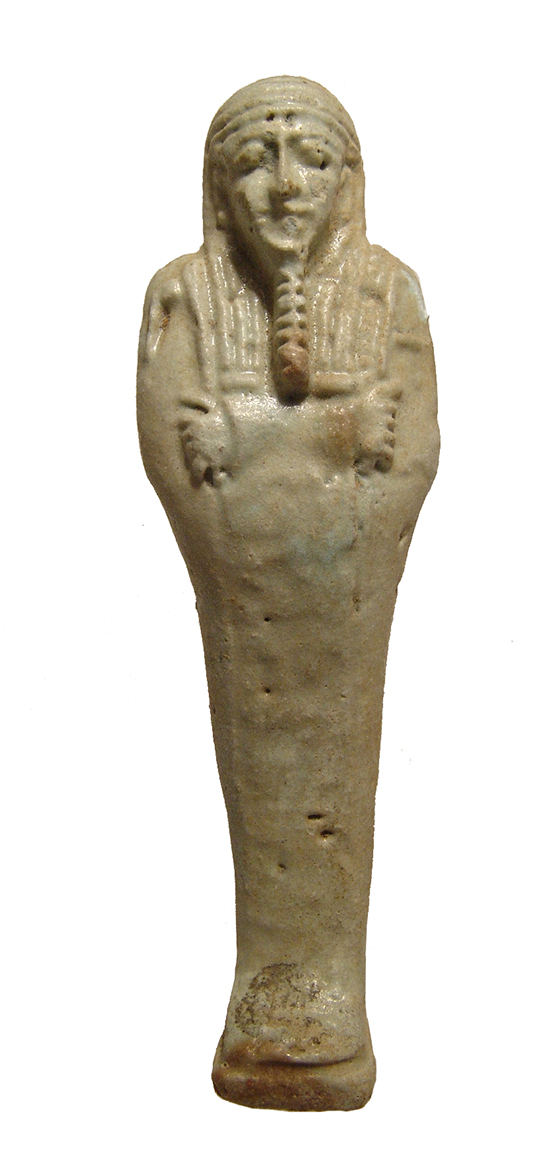Egyptian pale green faience ushabti, Late Period