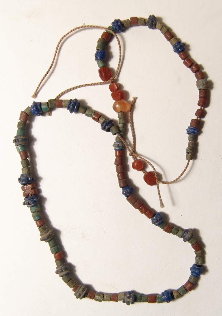 Strand of Graeco-Roman glass and faience beads