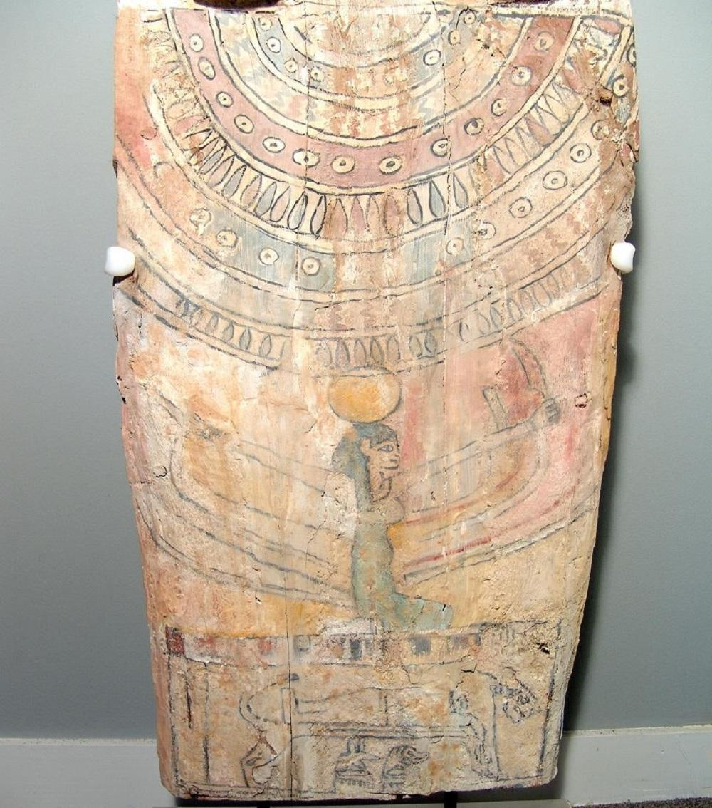 A beautiful Egyptian panel from the lid of a sarcophagus