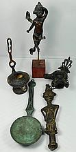 A lot of 5 antique bronze items