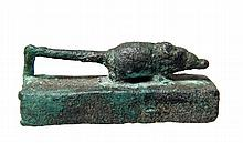 Egyptian bronze shrew mummy box
